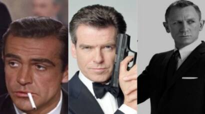 James Bond, Sean Connery, Daniel Craig, Pierce Brosnan