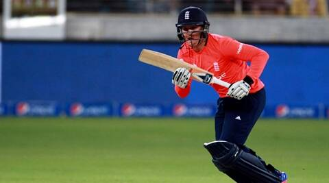England batsman Jason Roy plays a shot against Pakistan during the Pakistan and England T20 International match at the Dubai International Stadium in Dubai, United Arab Emirates, Friday, Nov. 27, 2015. (AP Photo)