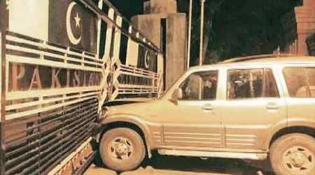 In major security breach, NRI rams SUV into Wagah border gate, arrested