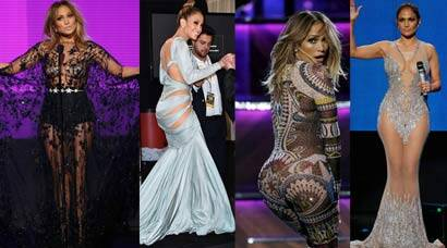 Jennifer Lopez wows in sheer and lace dresses at the AMAs 2015