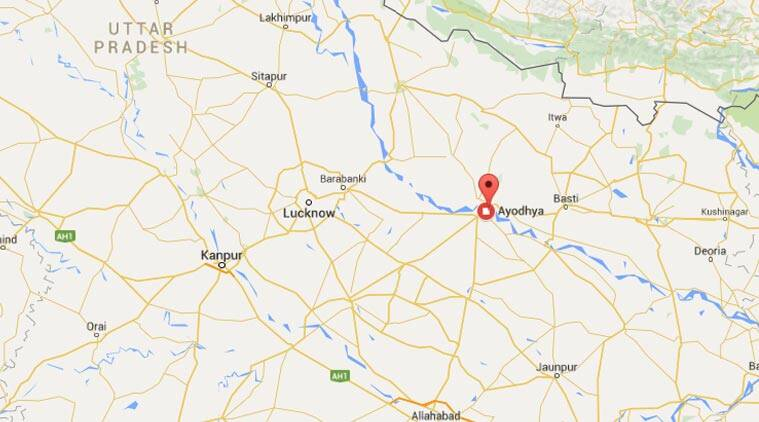 Ayodhya In India Map.Faizabad District Administration Says No To Play At Karsevakpuram In