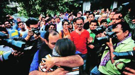 Kerala 'kiss of love' couple face police probe in Bengaluru