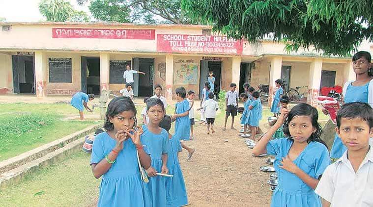 Dalit schoolchildren at the Bande Mataram High School in Kendrapara. (Source: Express Photo by Debabrata Mohanty)