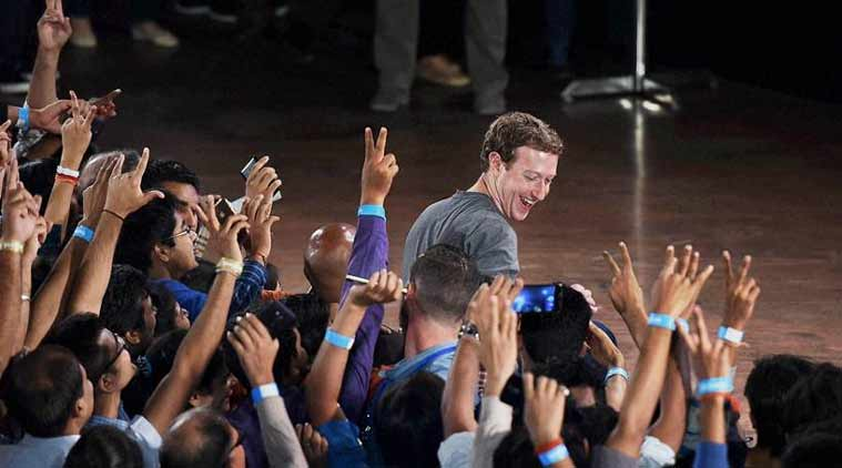 New Delhi: Facebook Chairman and Chief Executive Officer Mark Zuckerberg during an interaction with IIT students at IIT Delhi. (Source: PTI)