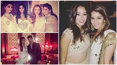 Candid pictures of Mira, Athiya, Sonam, Sooraj from Masaba's grand wedding
