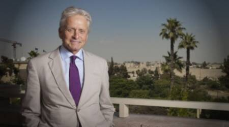 Michael Douglas honours Holocaust survivor