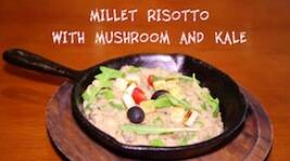 FoodIE Plates: Millet Risotto with Mushroom and kale