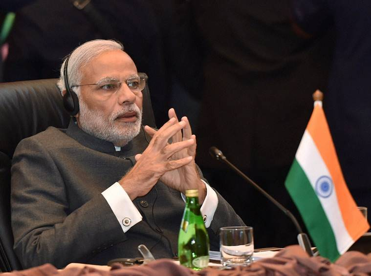 Prime Minister Narendra Modi at the 13th ASEAN-India Summit in Kuala Lumpur, Malaysia on Saturday. PTI Photo/Kamal Singh