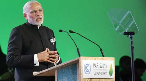 Modi, Narendra Modi, Paris, PAris climate talks, paris climate meet, modi in paris, modi speech in paris, india climate policy, modi policies, india pm, modi news, india news, world news