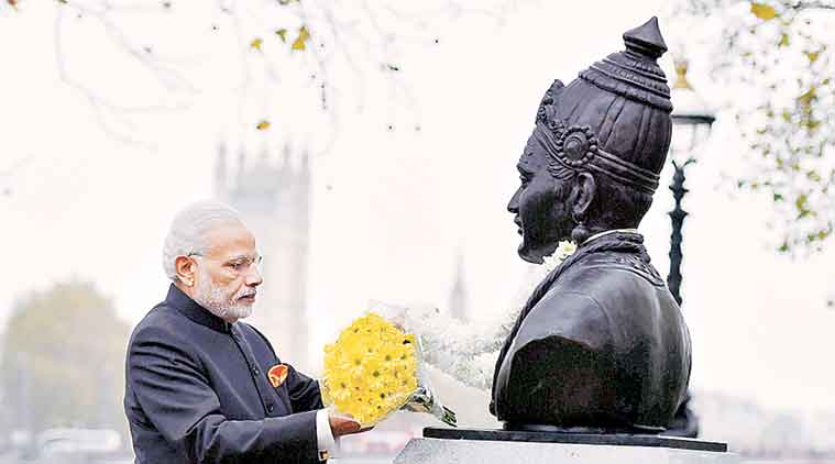 Modi unveils Basaveshwara bust in London:  Paris attack fills my heart with sadness.