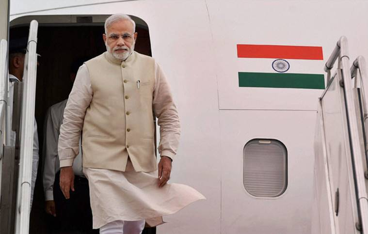 Prime Minister Narendra Modi will arrive in the UK on Thursday afternoon.