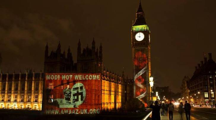 modi not welcome, modi uk parliament, Modi protest