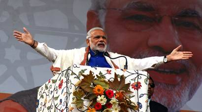 PM Narednra Modi announces Rs 80,000 crore special package for J&K.Express Photo by Shuaib Masoodi 07-11-2015