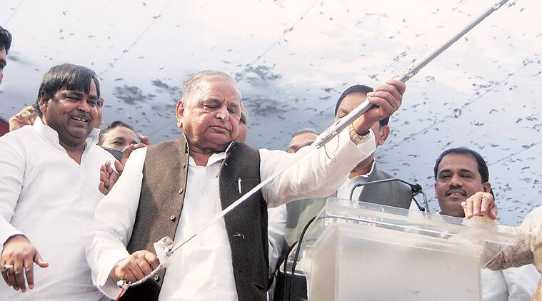 Mulayam during the Pichra Varg Sammellan, in Lucknow on Tuesday. (Source: Express photo by Vishal Srivastav)