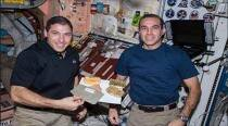Watch: Nasa astronauts celebrate Thanksgiving in space