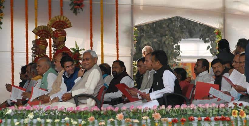 Nitish Kumar, Nitish Kumar Swearing in, Nitish Kumar Bihar CM, Nitish Kumar News, Lalu Prasad Yadav, Arvind Kejriwal, Rahul Gandhi, Mamata Banerjee, Nitish Kumar Latest News, Nitish Kumar Breaking News
