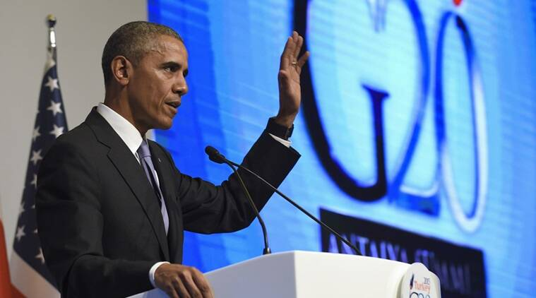 President Barack Obama waves as he concludes his news conference following the G-20 Summit in Antalya, Turkey, Monday, Nov. 16, 2015. (Source: AP)