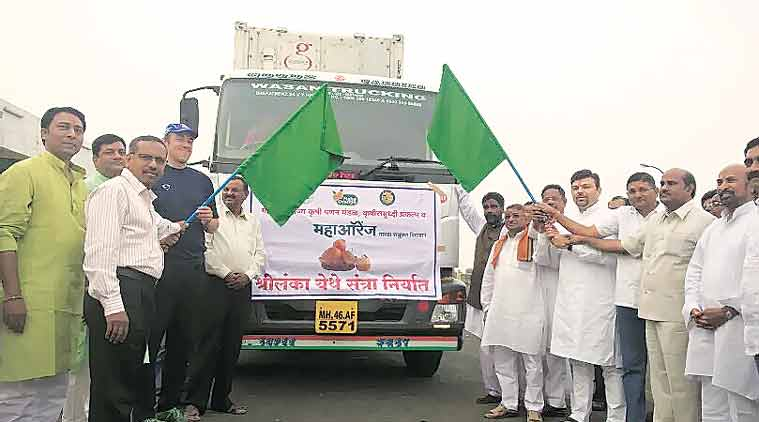The consignment for Sri Lanka being flagged off.(Source: Express Photo)