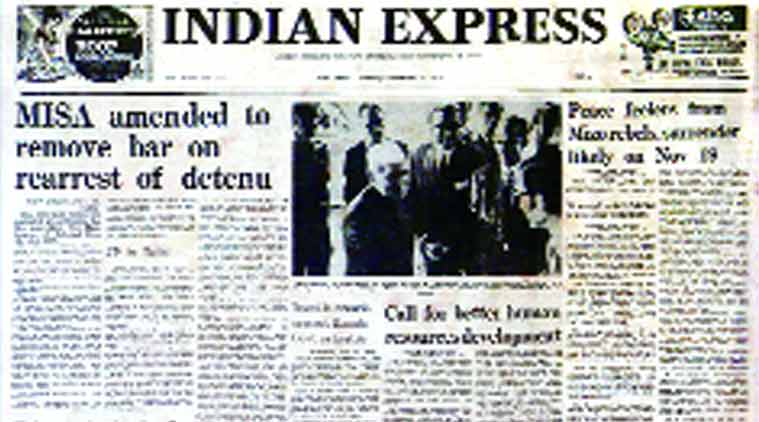 Indian Express, Indian Express front page, Indian Express paper