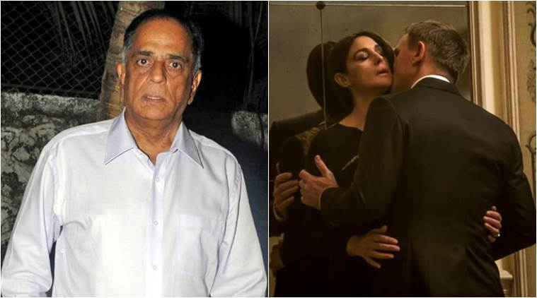 Spectre, Spectre Kiss, spectre Kissing Scene, Pahlaj Nihalani, Censor Board Chief Pahlaj Nihalani, Spectre Kissing length Shortened, Spectre Kissing Scene Cut, James bond Film Kissing Scene, Entertainment news