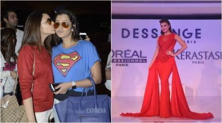 Parineeti, Sania kiss and pout; Jacqueline walks the ramp