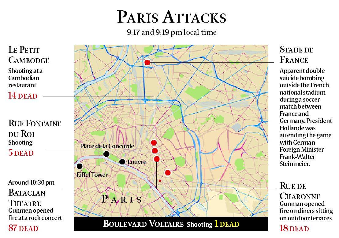 Bataclan Concert Hall Paris Map.Paris Attacks One Of The Eight Terrorists Identified As Omar Ismail