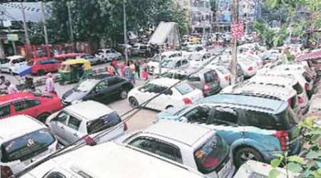 chandigarh, chandigarh parking lot, parking lot, chandigarh car parking space, india news