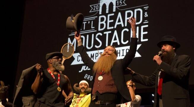 a face-off: awe-inspiring beards and mustaches