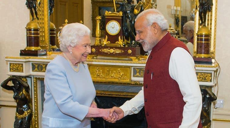 Narendra Modi, Modi UK, Modi Queen Elizabeth, Modi meets Queen, Modi UK visit, MODi queen gift