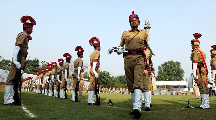 Pune Police held a commemoration parade on Wednesdya at the Centre for Police Research in Pashan on Police Commemoration Day. Express Photo  By Sandeep Daundkar,Pune,21.10.2015