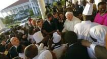 In Uganda, Pope Francis honors Christian martyrs, meets youth