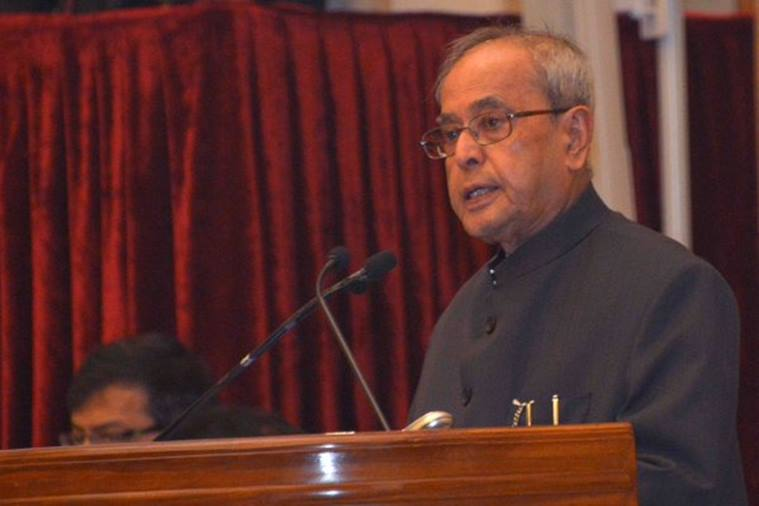 President Pranab Mukherjee during his address on Saturday. Image: Rashtrapati Bhavan