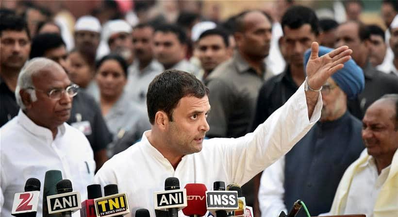 Congress, Congress March, Congress Protest Against intolerance, intolerance, Sonia Gandhi, Rahul Gandhi, modi, pm Modi, Pranab Mukherjee, Manmohan Singh, Congress News, Delhi News, India News