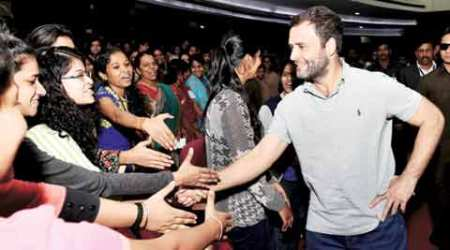 Rahul Gandhi asks students to disagree — and they do