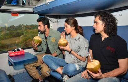 Ranbir, Deepika, Imtiaz Ali's train journey in pictures