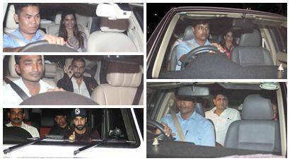 Deepika's parents, boyfriend Ranveer Singh watch 'Tamasha' with Ranbir Kapoor