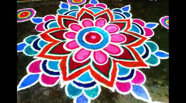 Diya Rangoli Design Images New