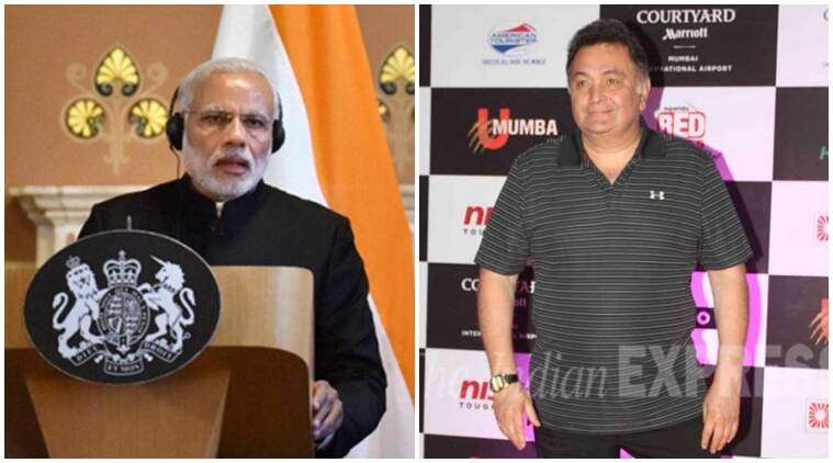 narendra Modi, rishi kapoor, narendra modi in britain, Rishi Kapoor news, Rishi Kapoor movies, entertainment news