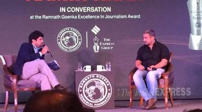 Ramnath Goenka Awards for best in Indian journalism