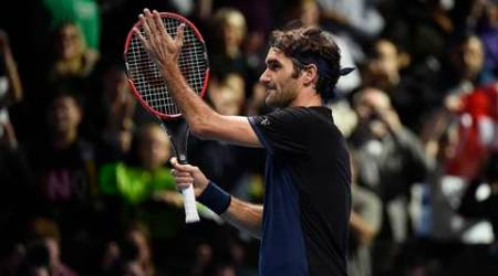 Tennis - Barclays ATP World Tour Finals - O2 Arena, London - 17/11/15 Men's Singles - Roger Federer of Switzerland celebrates winning his match against Novak Djokovic of Serbia Reuters / Toby Melville Livepic EDITORIAL USE ONLY.