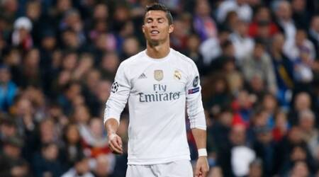 Football - Real Madrid v Paris St Germain - UEFA Champions League Group Stage - Group A - Santiago Bernabeu Stadium - 3/11/15 Real Madrid's Cristiano Ronaldo looks dejected Reuters / Juan Medina Livepic EDITORIAL USE ONLY.