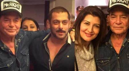 Salman Khan, ex-girlfriend Sangeeta Bijlani celebrate his dad Salim Khan's 80th birthday