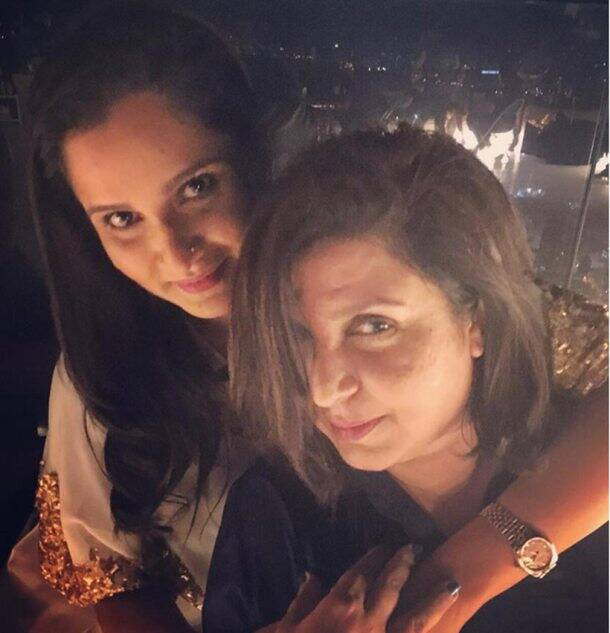 Sania Mirza, Sania Mirza Birthday, Sania Mirza Birthday Pics, Sania Mirza Birthday Party, Salman Khan, Farah Khan, Sajid Khan, Genelia Deshmukh, Riteish Deshmukh, Sonu Sood, Puneet Malhotra, leanderpaes, Chunkey Pandey, Sushant Singh Rajput