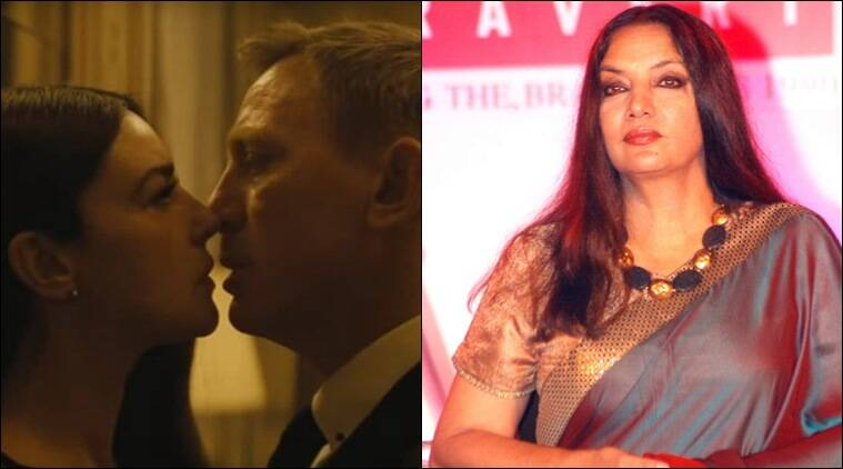 James Bond, James Bond Kissing Scenes, Spectre Kissing Scene, Spectre Kiss, Spectre Movie, Spectre india release, Spectre, James bond Kiss, Shabana Azmi, James Bond Censor Board, Entertainment news