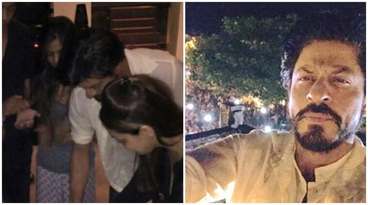 Shah Rukh Khan shares birthday selfie and later cuts cake with Gauri