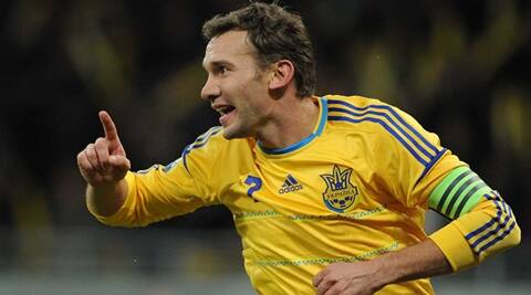 """FILE - The Nov. 11, 201 file photo shows Ukraine's  Andriy Shevchenko celebrating his team's second goal during a friendly soccer match between Ukraine and Germany in Kiev. 16 teams compete in the Soccer Euro 2012 kicking off June 8, 2012 in Warsaw and ending with the final on July 1 in Kiev. 31 matches will be played in eight Polish and Ukrainian cities."" *** Local Caption *** ""FILE - The Nov. 11, 201 file photo shows Ukraine's  Andriy Shevchenko celebrating his team's second goal during a friendly soccer match between Ukraine and Germany in Kiev. 16 teams compete in the Soccer Euro 2012 kicking off June 8, 2012 in Warsaw and ending with the final on July 1 in Kiev. 31 matches will be played in eight Polish and Ukrainian cities.  AP photo"""