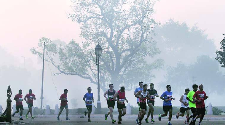 Delhi Half Marathon, Airtel Delhi Half Marathon, Eliud Kipchoge, Delhi marathon, Peres Jepchirchir, marathon news, sports news, latest news, indian express