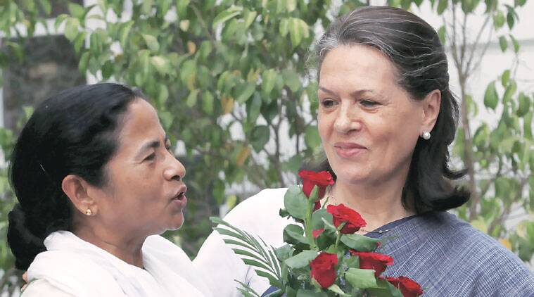 sonia gandhi, mamata banerjee, sonia diwali message, sonia mamata, sonia message to mamata, bengal polls, Trinamool congress, mamata TMC, politics news, nation news