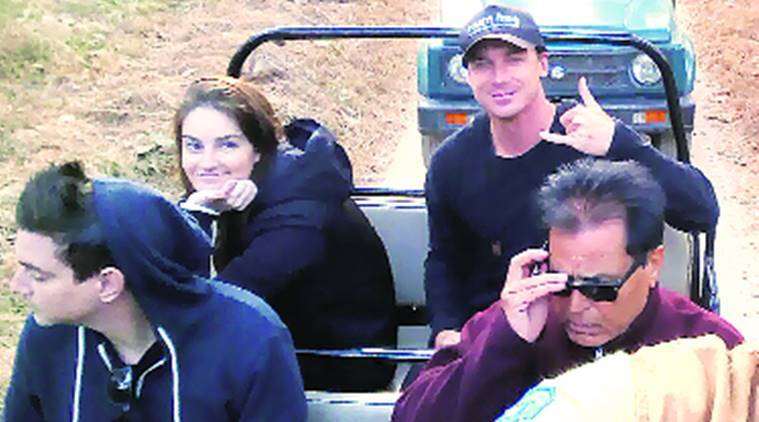 South African cricketer Dale Steyn at the Pench Tiger Reserve on Saturday. Express