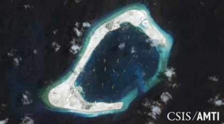 South China Sea, Beijing's island building, Sino-US friction, Spratly Islands USS Lassen, ASEAN, World news